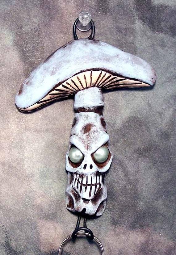 Creepy Mushroom Key Keeper Functional Smart Art Sculpture