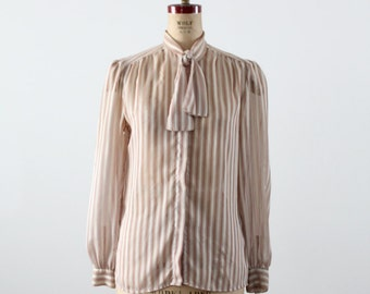 1980s Christian Dior secretary blouse