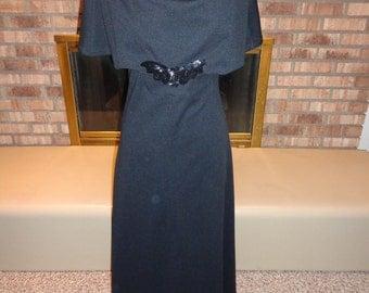 Vintage 70s Holiday LBD Little Black Dress