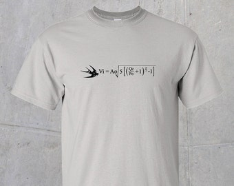 Formula for the Velocity of an Unladen Swallow (Monty Python) Tshirt