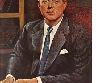 President John F Kennedy - Vintage postcard