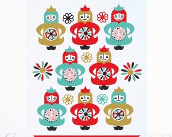Printable Christmas Cards DIY Holiday Greetings Scandinavian Style