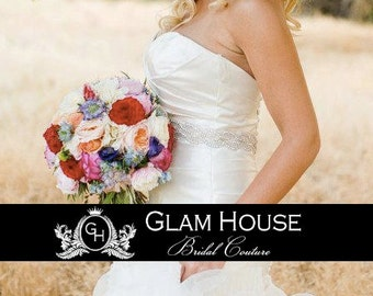Silver bridal sash,wedding sash,bridal accessories,beaded belt,wedding belt,Vintage wedding,dress belt,rhinestone belt,bridal belt,