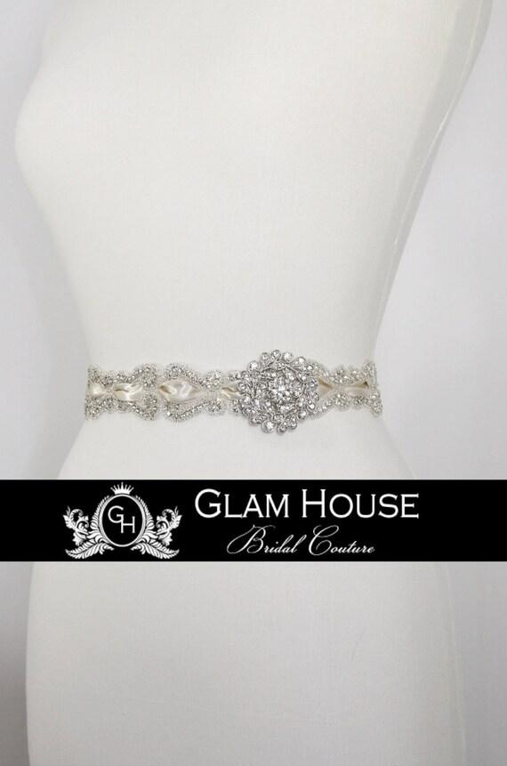 Vintage bridal sash,wedding sash,bridal accessories,beaded belt,wedding belt,Vintage wedding,dress belt,rhinestone belt,bridal belt,