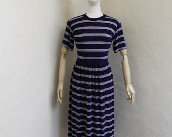 Vintage Nautical T-shirt Dress by United Colours of Benetton