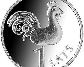 ROOSTER Coin for Luck - Jewelry Making - Scrapbooking - Original Presents - Supplies - Collectibles Coin - Numismatics