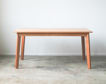 Solid Cherry Ventura Dining Table - Customizable with Leaves