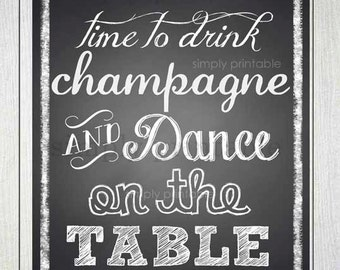 Time to Drink Champagne Print