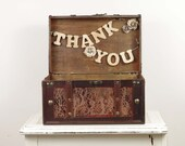 Thank You Card Trunk - Card Box for Wedding Reception - Box for Wedding Favors - Rustic Wedding Decor