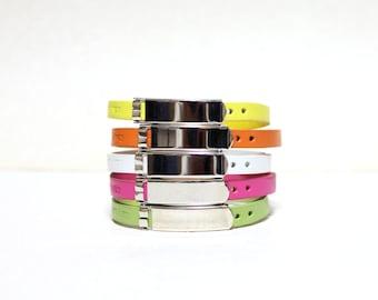 Single Wrap Minimal Leather Bracelet(WHITE)