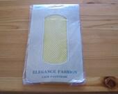 "Vintage 80's ""KORLUS FISH NET "" Pantyhose Neon Yellow Fishnet Lace Medium / Tall  100% Nylon Retro"