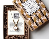 Pyrite Cube Pet Rock Necklace for Creativity and Energy - NEW Larger Size!