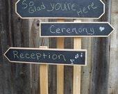 Chalkboard Wedding Signs Set of Three, Event Sign, Chalkboard Sign Set
