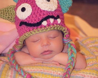 Adorable Pink Monster Hat
