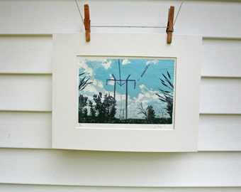 Powerlines near Chambley, Quebec  -Hand Pulled, Limited Edition