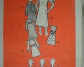 1968 Dress and Jacket in 3 Versions, Mail Order Sewing Pattern 9191, Size 14, Bust 36