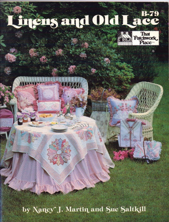 Vintage 90s Linens & Old Lace Book by Nancy J. Martin and Sue Saltkill B-79 Heirloom Sewing OOP