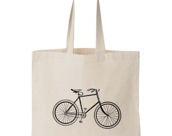Screen Printed Bicycle Tote Bag