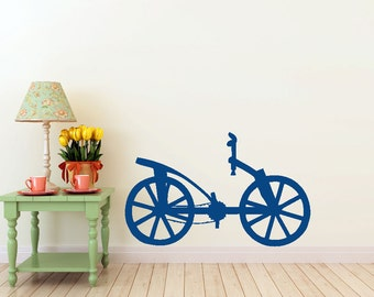 Da Vinci Bicycle vinyl Wall DECAL- bike  invention, old world interior design, sticker art, room, home and business decor
