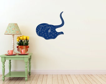 Stingray Wall vinyl DECAL- fish ocean manta sea Animal, sticker art, room, home and business decor