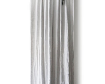 Linen curtain Custom color Rod pocket top Bow window curtain panel by Lovely Home Idea