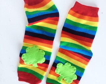 Shamrock St Patrick's Day Baby Leg Warmers