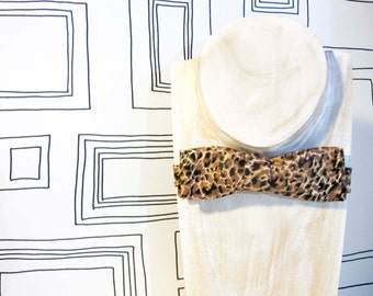 Last chance to buy: Classic leopard print bow tie, freestyle bat wing