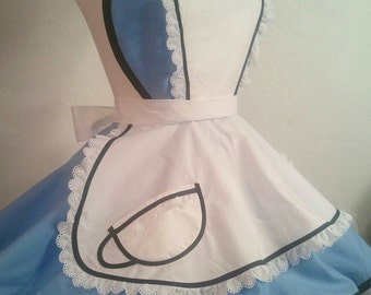 Alice In Wonderland Pin Up Costume Apron, Cosplay, Woman's Apron