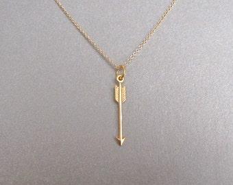 Petite Gold Arrow Necklace - Arrow Jewelry - Gold Arrow Necklace - Silver Arrow Necklace