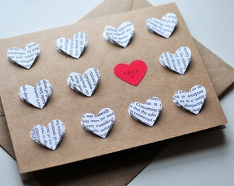 Love U // Blank Card // Valentine's Day Card // Love You Note // Wedding Card // Anniversary Card