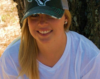 Baylor Bears Texas State Baseball Bling Ladies Womens Trucker Hat