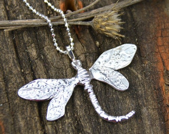Sterling Silver Dragonfly Necklace Wild Prairie Silver Jewelry Handmade