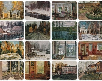 S. Zhukovsky, Set of 16 Vintage 8''x6'' Prints - 1979, Aurora Art Publishers