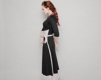 Maxi dress, Black dress, Black maxi dress, Kimono dress, Sleeves dress, Day dress, Black christmas dress, sizes: S -XL