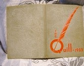 Book Yearbook The Quill 1933 Nevada City High School