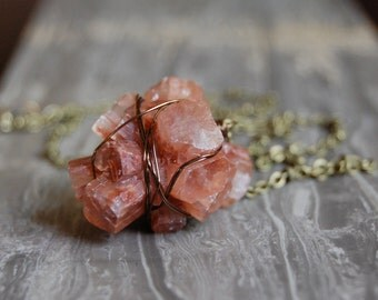 Raw Aragonite Cluster Necklace