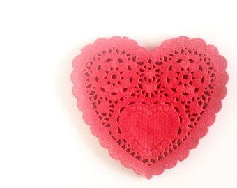 "Red Heart Paper Doilies 5"" - Set of 20"