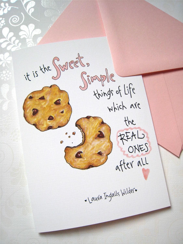 Cookie Birthday Card Birthday for Her Friend Birthday – Chocolate Birthday Cards
