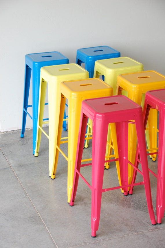 Custom Painted Tolix Style Stool In The Color Of By Sugarscout