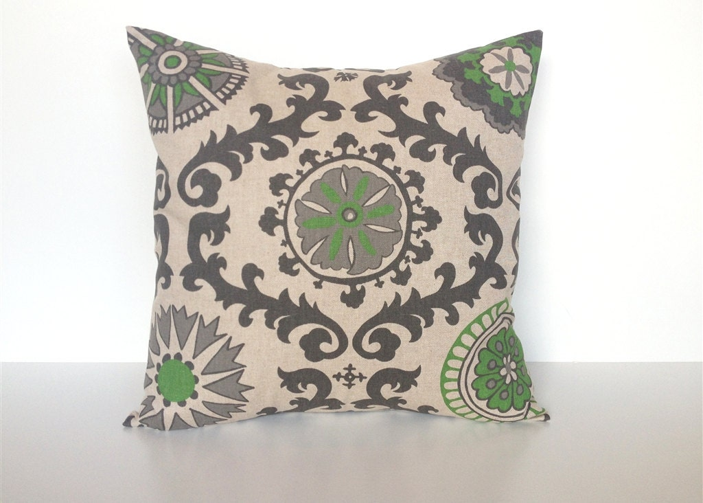 Sheffield Home Decorative Pillows : 70% OFF CLEARANCE Organic Green Decorative Throw Pillow Cover.
