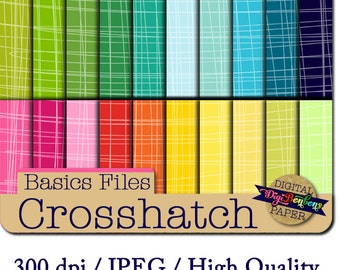 Crosshatch Digital Paper, INSTANT DOWNLOAD, Commercial use ok, bright colors, crosshatch pattern, digital scrapbooking papers