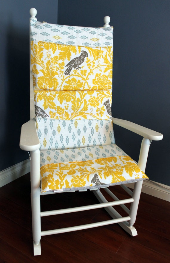 Rocking Chair Cover Rocking Chair Cushion Cover Yellow Parrot