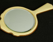 Vintage 1930s 1940s Celluloid Dressing Table Hand Mirror  *Reserved for kathiedonahue*