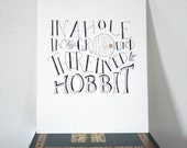 The Hobbit Calligraphy - 9 x 12 inches