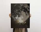 Moon Screen Print Poster - Gravity (Limited Edition)