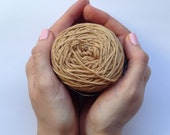 Cotton yarn, hand dyed yarn, camel brown, light brown, double knit DK *SALE 25% OFF*