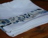 Flour Sack Dishtowel Set, Blue Floral, Dish Towels, Tea Towels