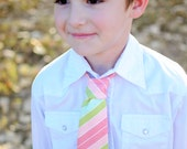 Boys Easter Tie - Apricot Ready to Ship size 4T-7