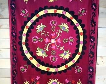 Large Vintage Uzbek Suzani