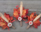 Rustic Maple Fall Wedding Boutonniere